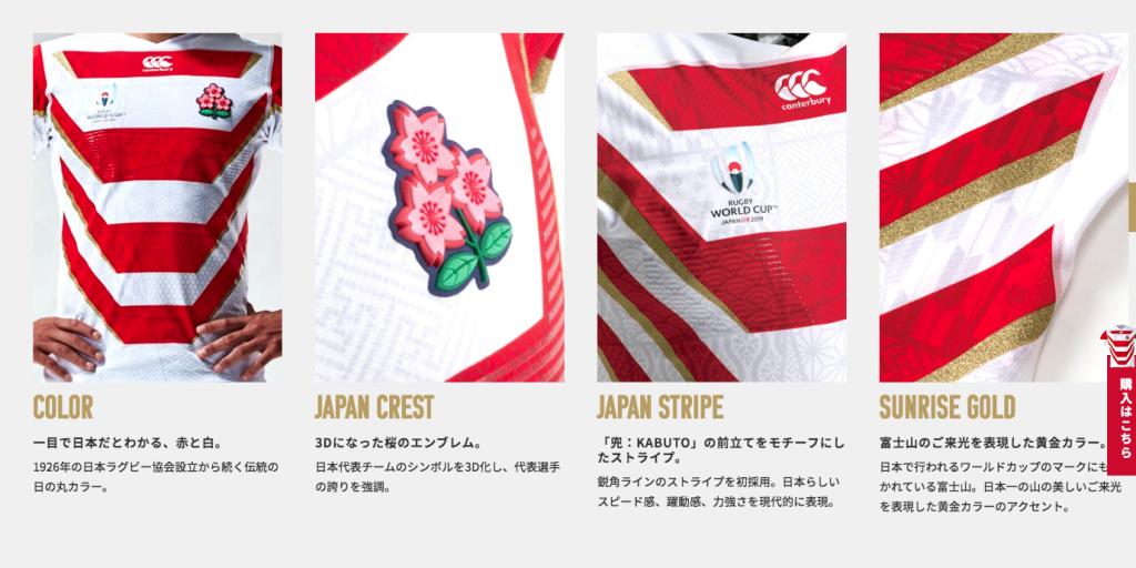 日本 ラグビー ユニフォーム